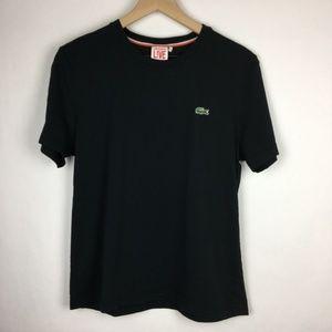 Lacoste Black T-Shirt Size 4 100% Cotton